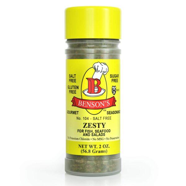 Zesty Lemon & Herb Salt Free Seasoning 2 oz Bottle