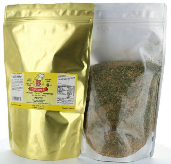 Zesty Lemon & Herb Salt Free Seasoning 1 lb Bag