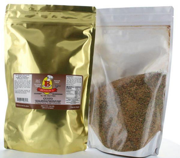 Gusto Garlic & Herb Pepper Salt Free Seasoning 1 lb Bag