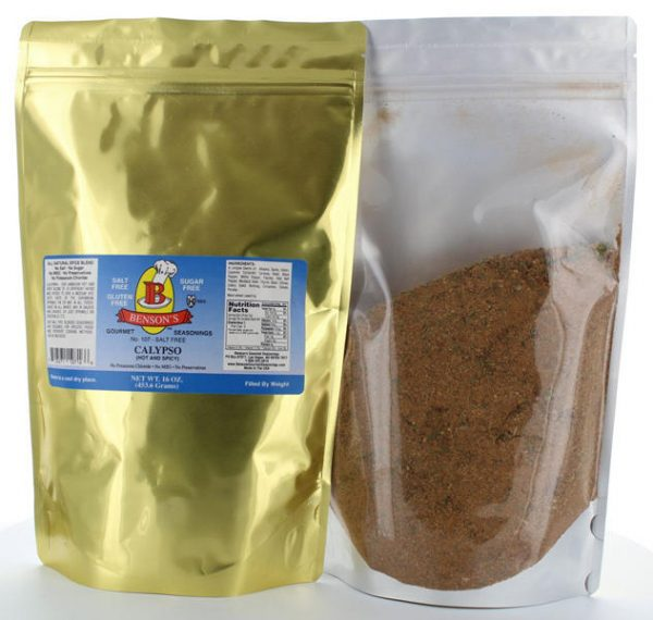 Calypso Jamaican/Caribbean Hot & Spicy Salt Free Seasoning 1 lb Bag