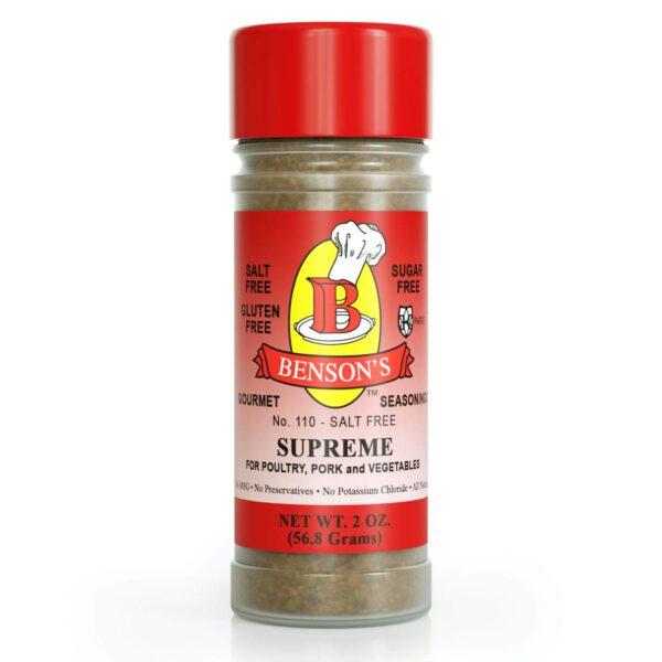 Supreme Garlic & Herb Salt Free Seasoning 2 oz Bottle