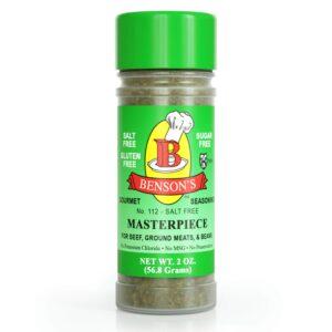 Masterpiece Mediterranean Style Salt Free Seasoning 2 oz Bottle