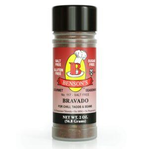 Bravado Tex-Mex Chili Salt Free Seasoning 2 oz Bottle