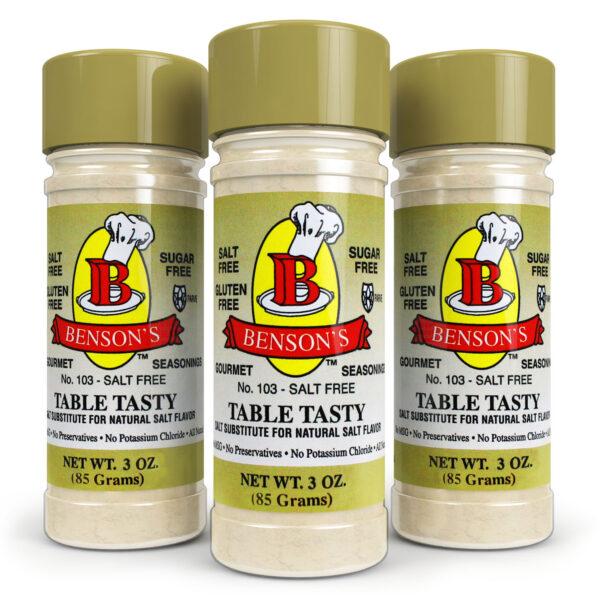 Table Tasty Original Salt Substitute 3 Pack (3 bottles of Table Tasty)